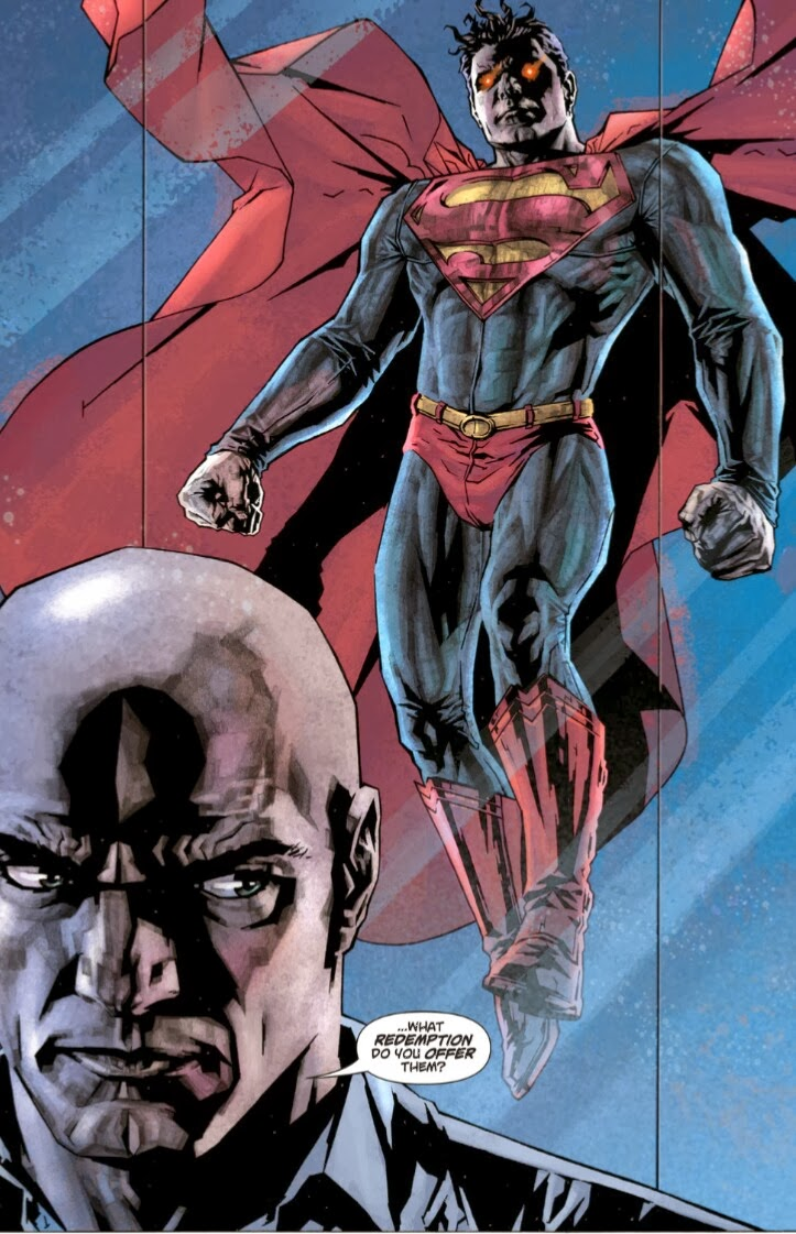 Superman face à Luthor