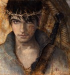 Mark Lawrence's Prince Jorg Ancrath from The Prince of Thorns. Fan art by Kim Kincaid