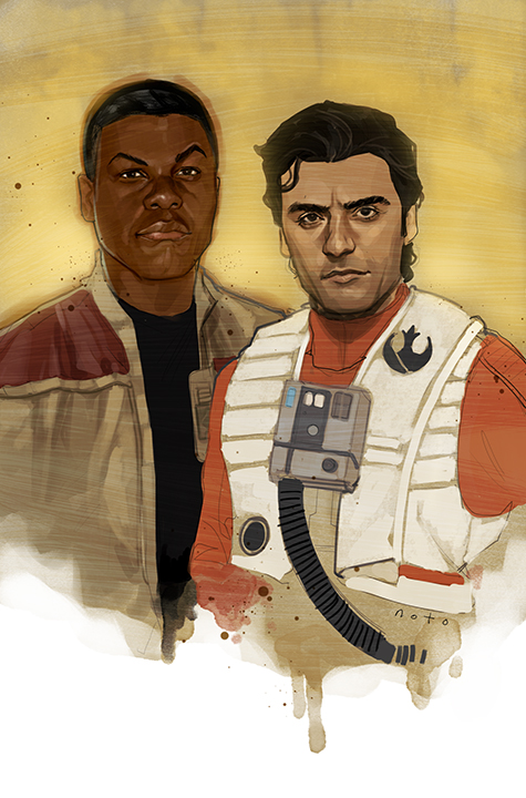 """""""Space Bros"""" by Phil Noto"""