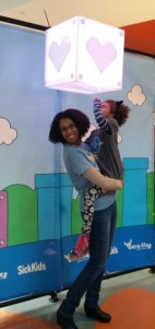 Me and my daughter at Sick Kids Hospital for Extra Life.