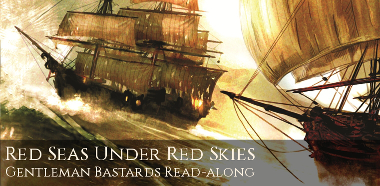 red seas under red skies readalong https://onemore.org/2016/04/25/sail-the-sea-of-brass/