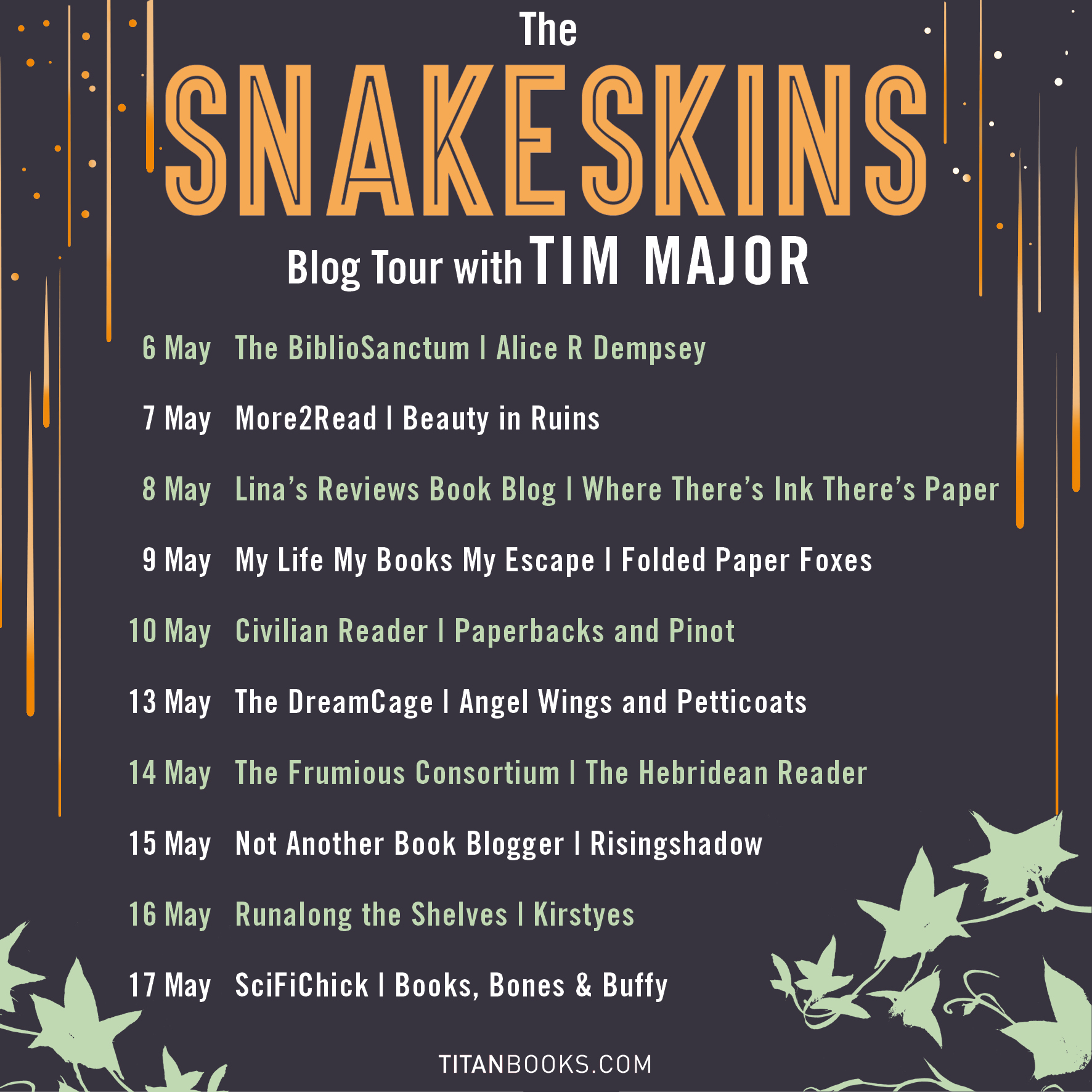 """Guest Post: """"A Snakeskins Book Soundtrack"""" by Tim Major   The"""